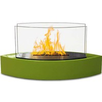 "20"" Lexington Fireplace w/ Fuel, Green"
