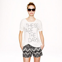 LINEN THESE ARE THE DAYS TEE