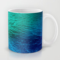 Ocean Sea Water Digital Art  Mug by Bluedarkat Lem