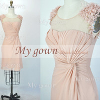 2014 Short Prom Dress,Straps Short Mini Dress,Prom Dress, Dresses, Evening Gown,Bridesmaid Dress,Cocktail Dress,Wedding Dress,Wedding Gown
