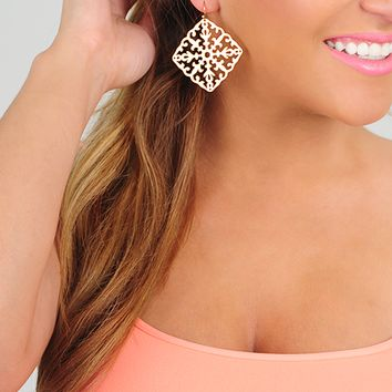 Keeping Secrets Earrings: Gold