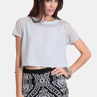 Silver Screen Crop Top