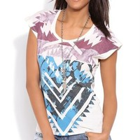 Short Sleeve Dolman Top with Aztec Americana Screen