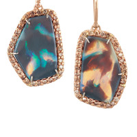 Kimberly McDonald | 18-karat rose gold, opal and diamond earrings | NET-A-PORTER.COM