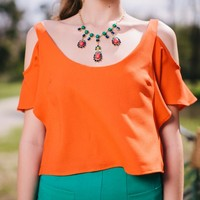 Island Orange Crop Top