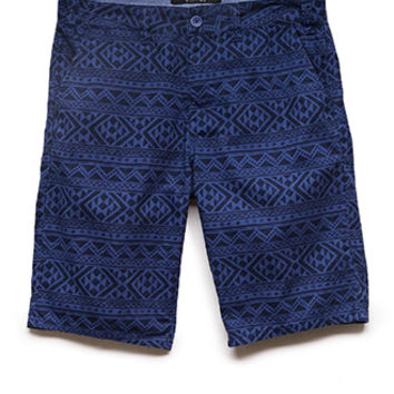 Tribal Print Twill Shorts
