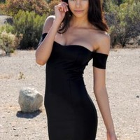 Black Sleeveless Bodycon Party Dress