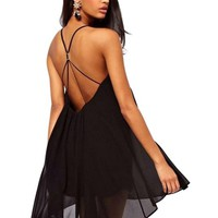 Women's Sexy Chiffon Sling Short Mini Party Cocktail Dress Summer