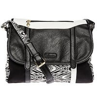 The Armed N' Ready Shoulder Bag in Black & White