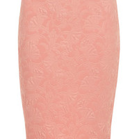 Petite Peach Embossed Skirt