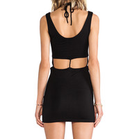 Lovers + Friends Take Me Out Dress in Black