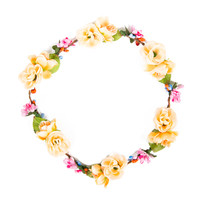 Peachy Flower Crown