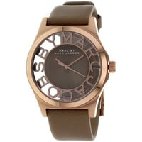 Marc Jacobs Women's 'Henry' Leather Strap Watch