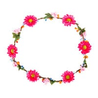 Think Pink Flower Crown