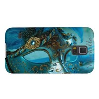 Blue Masquerade Mask Samsung Galaxy S5 Case