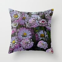 Cartoon Daisies Throw Pillow by Shalisa Photography | Society6