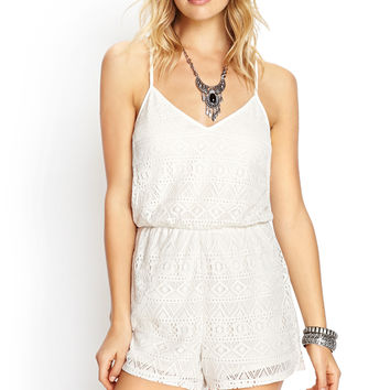 Laurel Canyon Crochet Romper