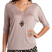 BASIC V-NECK DOLMAN TEE