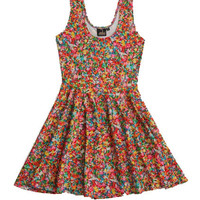 Rainbow Sprinkles Flare Dress