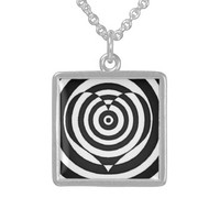 Pendant Necklace Sterling Hypnotic OP Illus Heart