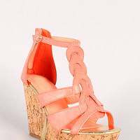 Athens-01 Strappy Open Toe Wedge