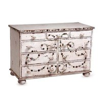 Seashore Shell Chest - coastal dressers and chests
