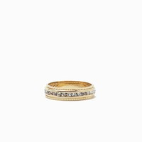 RS Pave 2pc Textured Thread Ring Set