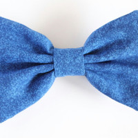 4.5 inch bow, blue hair bow, large blue fabric bow, womans hair bow, royal blue hairbow