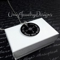 Compass Necklace - UniqJewelryDesigns