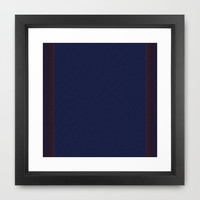 Re-Created Interference ONE No. 22 Framed Art Print by Robert S. Lee