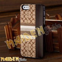 Wallet Brown Pattern for iPhone 4/4s/5/5s/5c - iPod 4/5 - Samsung Galaxy s3 i9300/s4 i9500 Case