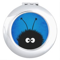Blue Cute Fluffy Dazzled Bug Character v.1