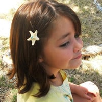 Starfish Hair Clips for Children White by ShepherdoftheSea on Etsy