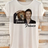 James Franco With Bear Lovely Cute _ Tshirt  And Tank Top Men And Women Design By : PATUNGAN