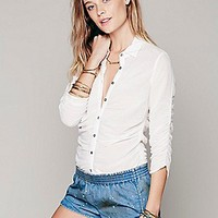 Free People Rouched Tuck in Blouse