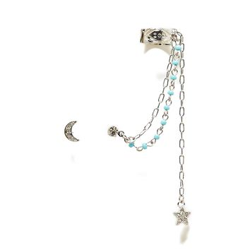 AEO TURQOUISE BEADED EAR CUFFS
