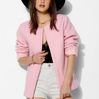 The Whitepepper Perfect Pink Boucle Jacket - Urban Outfitters