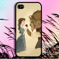 CARTOON IPHONE 5S CASE Beauty And The Beast iPhone Case iPhone 5 Case iPhone 4 Case Samsung Galaxy S4 S3 Cover iPhone 5c iPhone 4s Cover