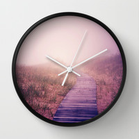 To the Ends of the Earth Wall Clock by Olivia Joy StClaire