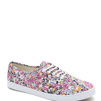 Vans Authentic Lo Pro Floral Sneakers - Womens Shoes - Floral -