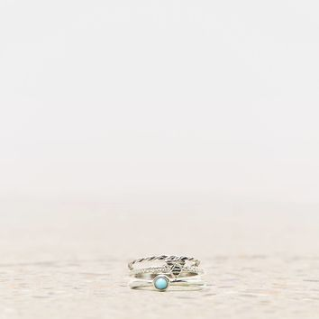 AEO TURQUOISE & TRIANGLE MIDI RING
