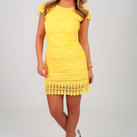 Way You Look Tonight Dress: Yellow