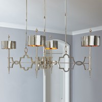 Global Views Lighting Quatrefoil Nickel Pendant