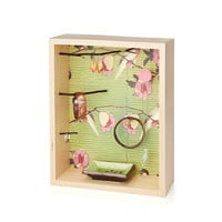 Birds On Green Jewelry Box