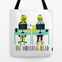 The working dead Tote Bag by Andy Westface