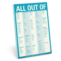 All Out of Pad (Blue) by Knock Knock - knockknockstuff.com
