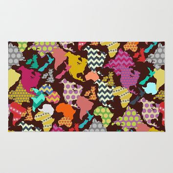 geometric world Area & Throw Rug by Sharon Turner | Society6