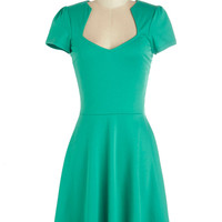 ModCloth Mid-length Short Sleeves A-line Ooh La La Lady Dress