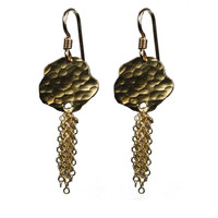 BOB EARRINGS WITH TASSEL (yellow)