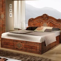 MCS Beatrice Giro Walnut Finish Italian Bed Frame